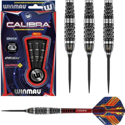 Winmau Calibra 90% Tungsten Steel Tip Darts - Black Onyx Coating - 22g 24g 26g