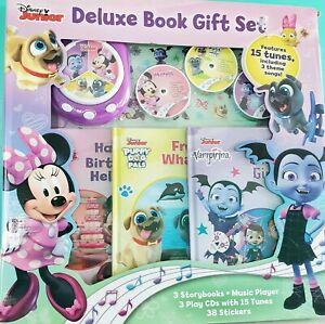 Disney-Books-Reading-Story-Music-CD-039-s-Deluxe-DVD-Player-Gift-Set-Preschool-Toy