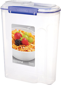 Clear//BlueBpa 17.75 Cup Sistema Klip It Utility Collection Cereal Container