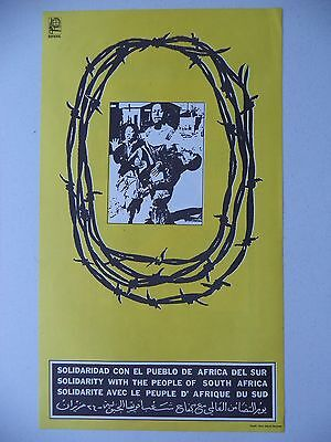 OSPAAAL CUBAN Political Poster Social Development Peoples Right 1995 Original