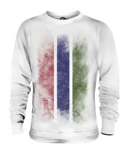 GAMBIA FADED FLAG UNISEX SWEATER TOP GAMBIAN SHIRT FOOTBALL JERSEY GIFT