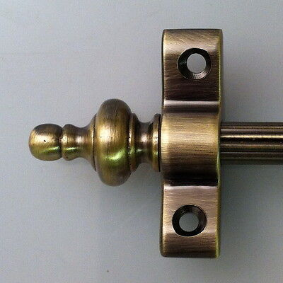 """3//8/"""" x 28.5/"""" Norfolk Reed Thistle Finial Satin Brass Stair Rods"""