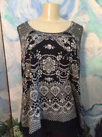 Bila Xl Black Multi Sequin/beaded Crochet Hem Sleeveless Layering Tank Top