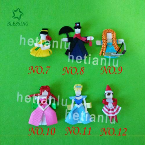 100 Fashion Hair Clip Princess Ice cream mermaid candy Snowflake Mickey Hedgehog
