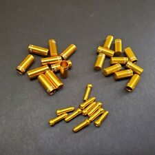 Jagwire End Cap Hop-up Kit 4.5mm Shift and 5mm Brake Gold for sale online