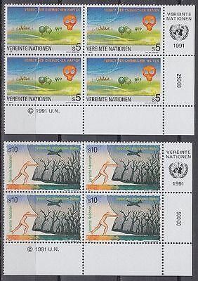 Uno Wien 1991 ** Mi.119/20 Chemische Waffen Chemical Weapons [sr2073]