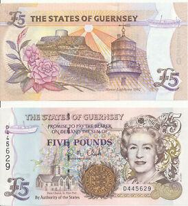 Guernsey-5-pounds-2008-Sign-Clark-UNC-Pick-56c