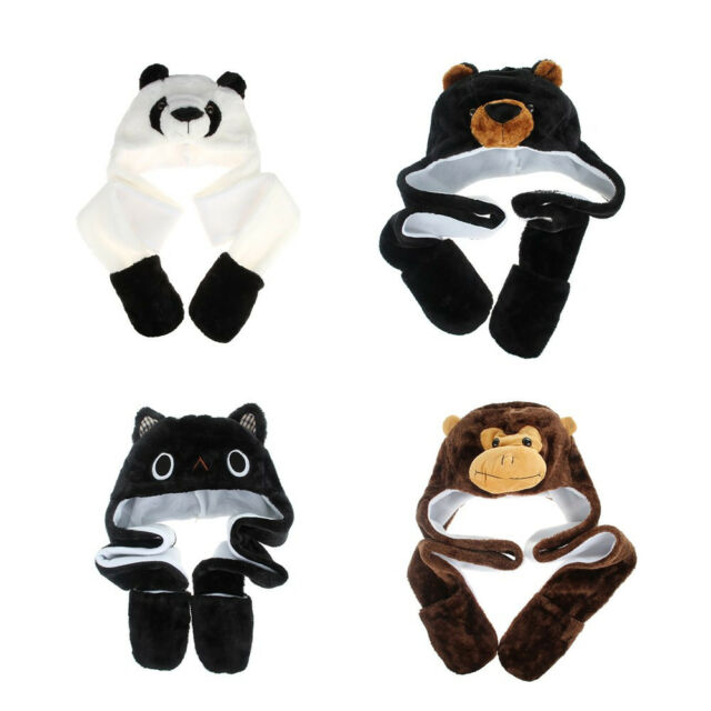 Kids MONKEY Winter Hat with Paws