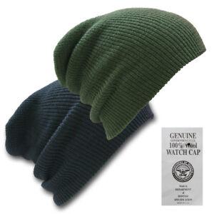 Auténtico 100% Lana Gorro Ejército de Estados Unidos Ver Gorra ... 75e4c616725