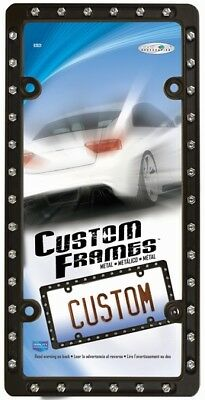 2 Black Matte Steel Metal Rivets License Plate Frames for USA Canada Car-Truck