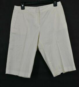 Tommy Bahama Womens White Hook & Button Front Shorts Zip Fly Slash Pockets Sz 6