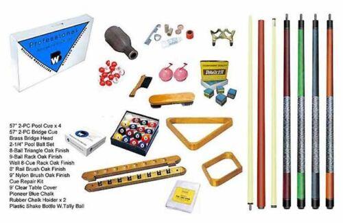 Oak Premium Billiard Pool Table Accessory Kit Black /& Honey Colors Mahogany