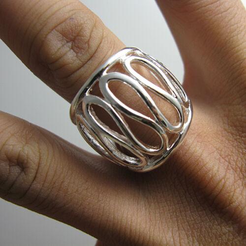 Cool 925 Silver Hollow Out pouce Anneau Femmes Hommes Bijoux Anneau ZR059