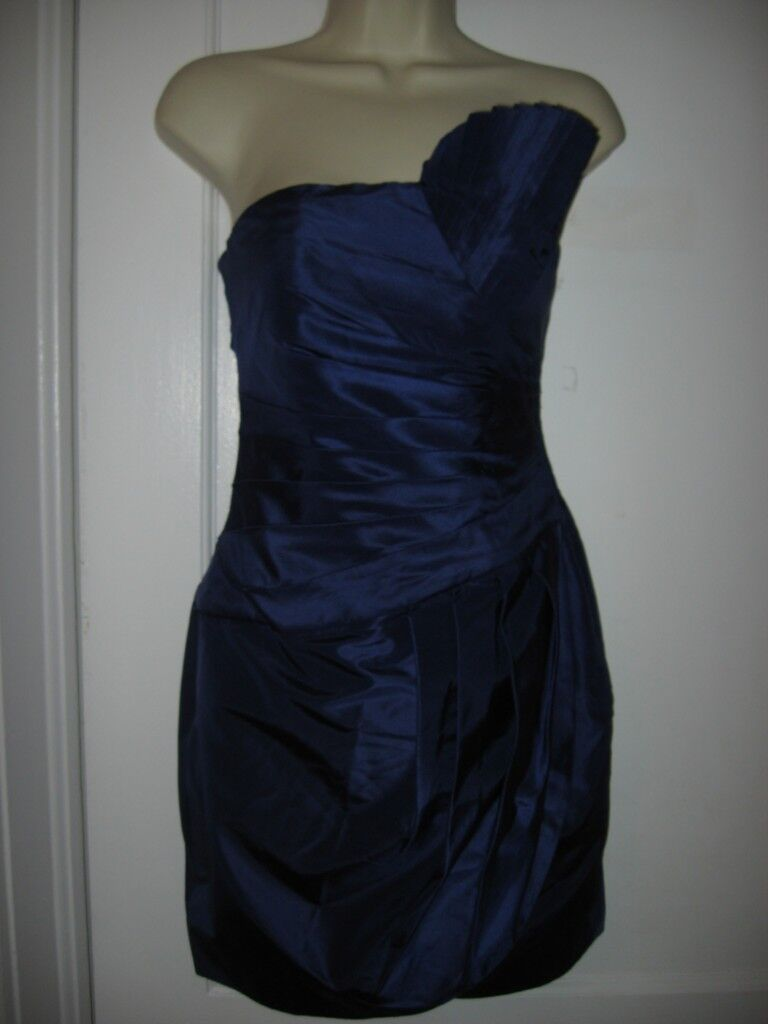 Catherine Malandrino Pleated Bustier Fan Asymmetric Silk Taffeta Dress 0 US  595