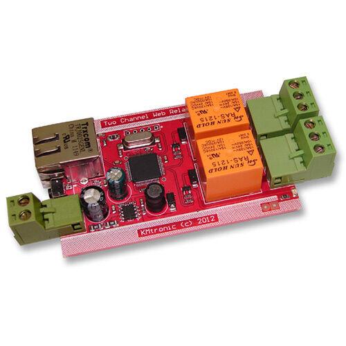 KMTronic LAN IP 2 Canali Relè Scheda Internet Ethernet Domotica Modulo
