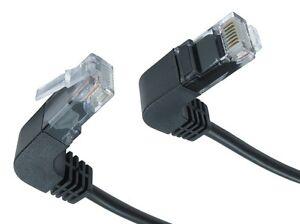 Rj45 Câble Réseau Cat5e Angle Droit Jusqu 'à Bas, Noir Ethernet Lead Uk-afficher Le Titre D'origine 7jkqday2-07172259-826169851