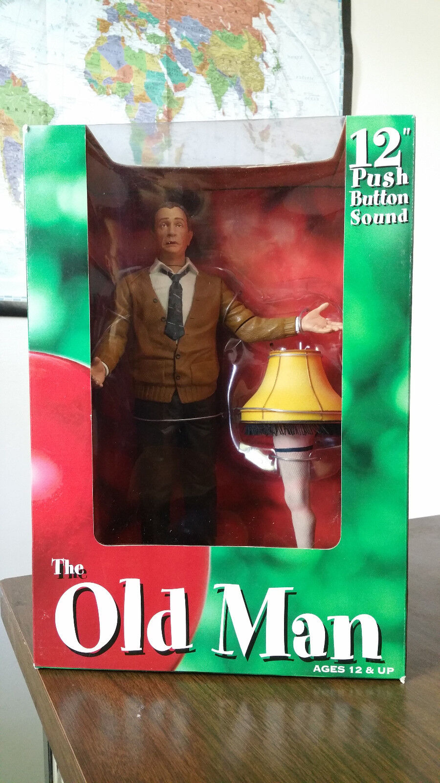 A Christmas Story Old Man Talking Fig. W-Leg & Lamp Darren McGavin 18+ SEALED
