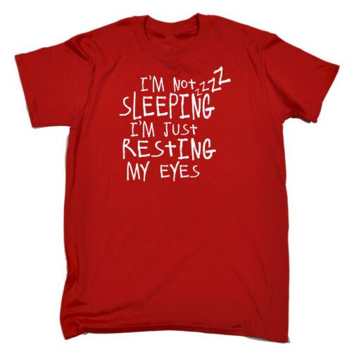 Pas de dormir juste repos mes yeux T-shirt homme tee-shirt anniversaire paresseux Ado Drôle