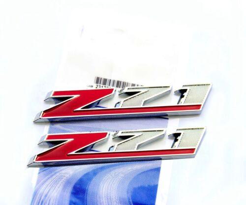 2x OEM Chrome Red Z71 Emblem badge GMC  Silverado Sierra Tahoe  Suburban F2U