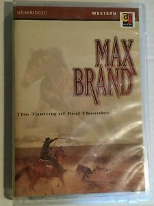 The Taming of Red Thunder by Max Brand - Western Book Cassette Audiobook Tested