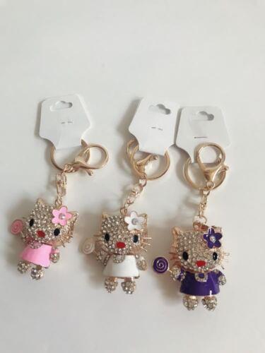 3XHot Crystal Rhinestone  Keychain Charm Pendant Bag Purse Car Key Chain