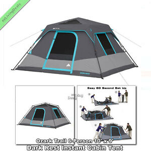 Ozark Trail Instant Cabin Tent 6 Person 10' x 9' Outdoor
