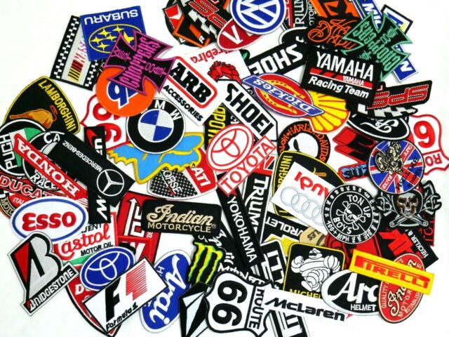 Mix Random Lot of 20 Racing Sport Motorsport Embroidered Sew Iron On Patch Biker