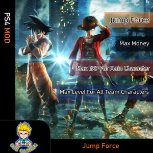 Jump-Force-PS4-Mod-Max-Money-EXP-For-Main-Character-Level-All-Team-Character