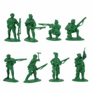 ARMIES-IN-PLASTIC-5549-ROGERS-RANGERS-FRENCH-INDIAN-REV-WAR-16-MIB-FREE-SHIP