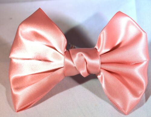NEW Satin Pink bow barrette hair clip womens childrens fashion accessories