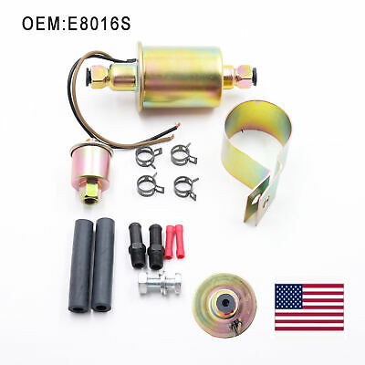 New 2.5-4.5psi Low Pressure Electric Fuel Pump with Installation Kit Universal