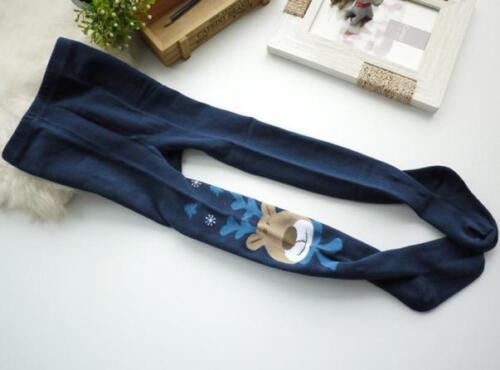 Kids Girl Elasticity Tights Soft Christmas Elk Print Splice Socks Pantyhose Pant