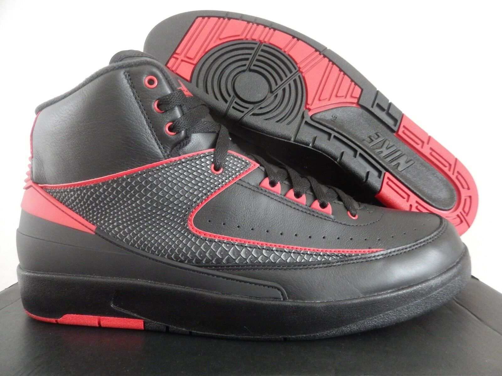 MEN'S NIKE AIR JORDAN 2 RETRO BLACK-VARSITY RED