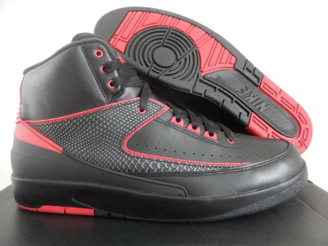 14d12108777 Nike Air Jordan II 2 Retro Alternate 87 Black Red 834274-001 Sz 9 ...