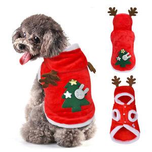 Red-Warm-Christmas-Dog-Clothes-Pet-Xmas-Hoodie-Jacket-Festival-Fleece-Coat-XS-XL