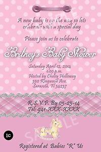 Baby shower invitation cards personalized thank you cards a imagem est carregando baby shower invitation cards personalized thank you cards stopboris Gallery