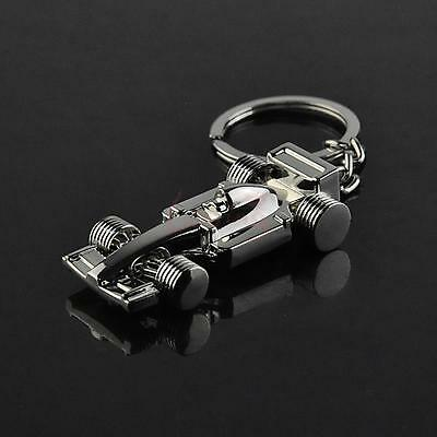 Exciting F1 Racing Bicycle Silver Keychain Keyring Keyfob Key Charm Gift Sweet