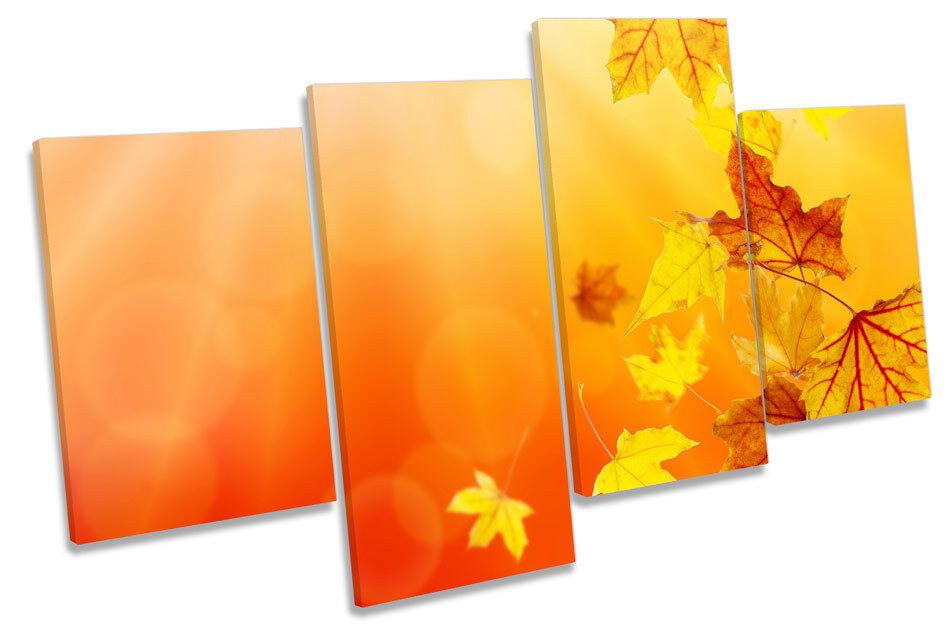 Hojas De Otoño Floral Multi tela  pa rojo  tela arte enmarcado Panel 33698a