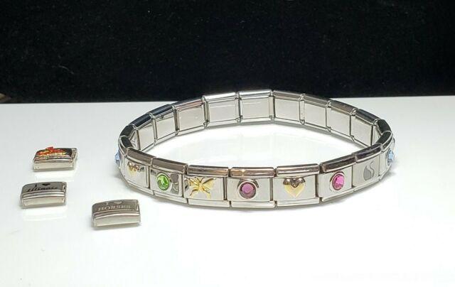 Italian Bracelet 23 Charms uberry, YaYa - HEART. BUTTERFLY, CARDINALS, CRYSTAL