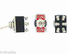 Heavy Duty 20a 125v Dpdt 2 Pole Double Throw 6 Terminal Onoffon Toggle Switch