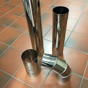 Edelstahl-Ofenknie-Bogen-Rauchrohr-Ofenrohr-Abgasrohr-Sanierung-Premium-120-mm
