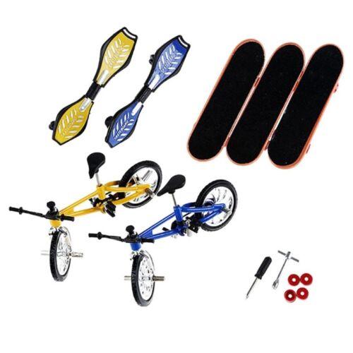 8Pcs Tech Deck Dito Bicicletta e ruota di Skateboard per Bambini Giocattoli Regali