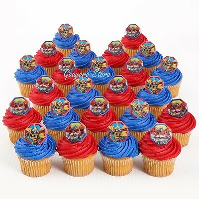 Transformers 12 Cupcake Rings Birthday Toppers Favors Prizes Bag Fillers Supply