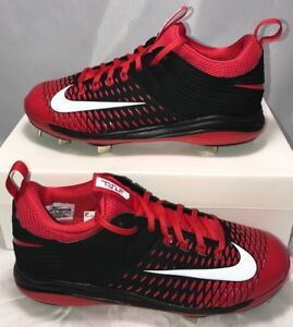 0 Nike Mens Size 10 Lunar Vapor Mike Trout 2 Metal Baseball Cleats Black Red