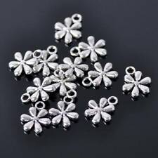 50pcs 17x7mm Tibetan Silver Small Leaves Metal Beads Craft Findings Pendants 31#