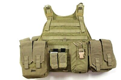 "Eagle Allied Industries 1000D MJK Khaki Tan /""C/"" S//M MBAV Plate Carrier Vest"