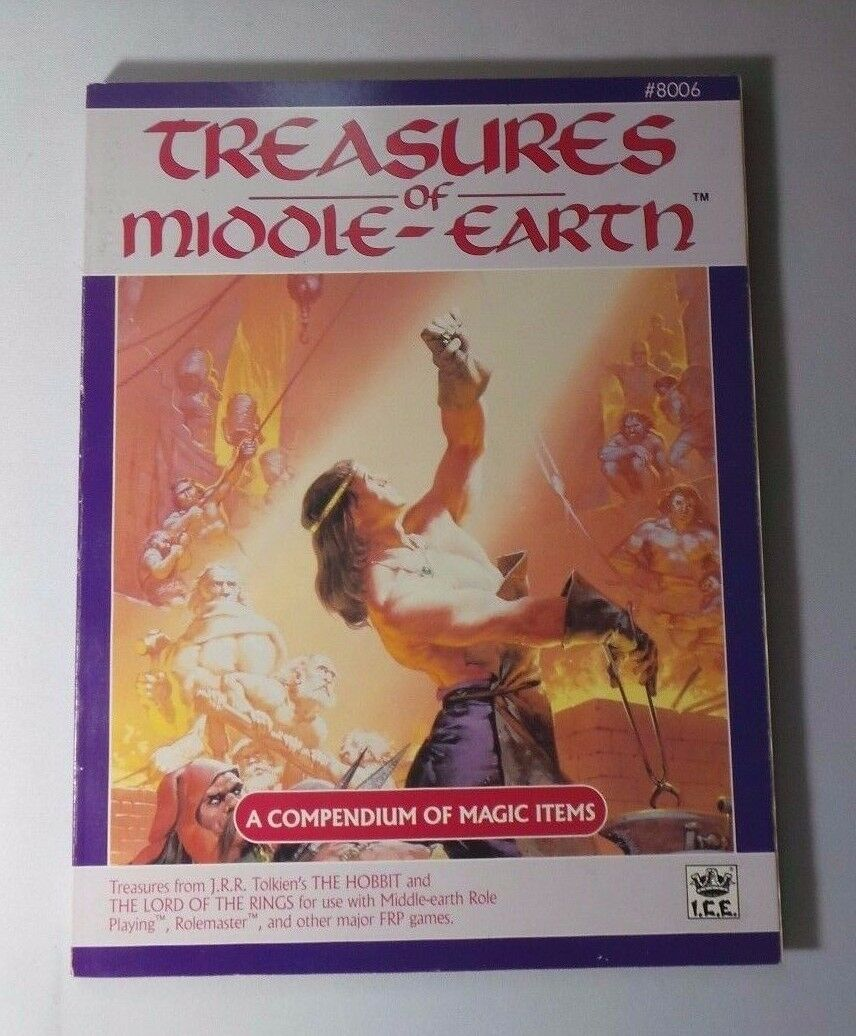 TREASURES OF MIDDLE-EARTH MERP ICE Tolkien Game Tome Encyclopedia Magica  8006