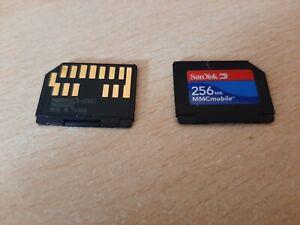 SCAN DISK 256MB MMC MEMORY CARD FOR DIGITAL CAMERA MOBILE PHONE