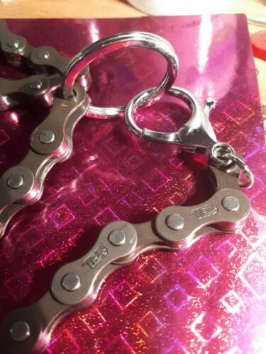 Key chain bike chain for hanging from Jeans with belt loops completely handmade