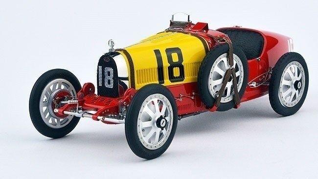 1 18 CMC 1924 Bugatti Bugatti Bugatti T35  18 Spanish Red and Yellow  M-100-016 c89